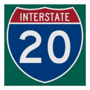 interstate_20_i_20_highway_sign_poster-r1